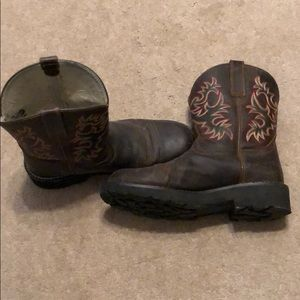 Ariat all leather cowboy boots